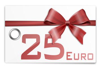 Gutschein Geschenkkarte 25 Euro