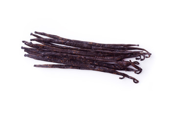 vanilla beans isolated on a white background