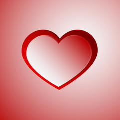 Red light heart with red stroke