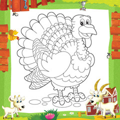 Wall Murals Do it Yourself The coloring plate - illustration for the children