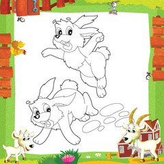 Fotobehang Doe het zelf The coloring plate - illustration for the children