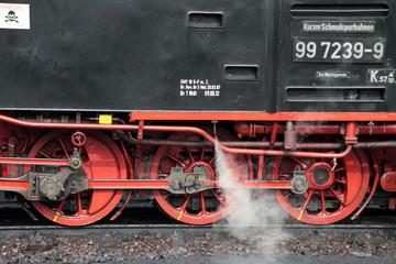 Fototapete - Räder einer Dampflok
