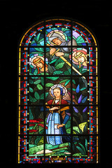Poster Stained Saint Catherine, Saint Michael, Saint Margaret and Joan of Arc