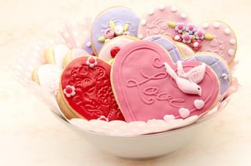 Fototapete - Galletas de San Valentin