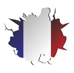 france flag crack