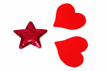 star rose and hearts