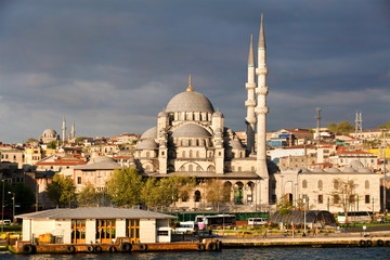 View of Istanbul city , the Golden Horn and New Mosque