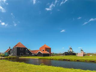 Traditional Dutch wooden farm at the Zaanse Schans