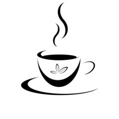 Tasse Tee Schwarz