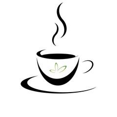 Tasse Tee Grün