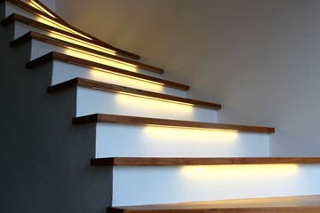beleuchtete treppe I Fototapete
