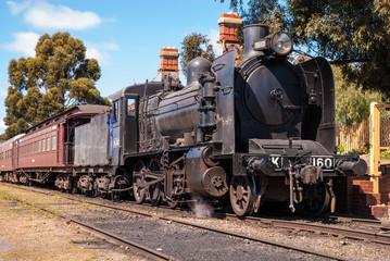Steam train at Maldon station.