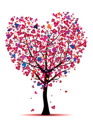 color tree with hearts