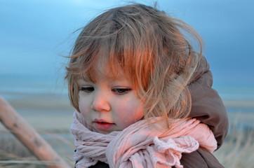 sur la plage en hiver