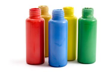 Fläschchen mit Acrylfarben