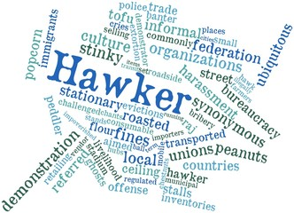 Word cloud for Hawker
