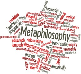 Word cloud for Metaphilosophy