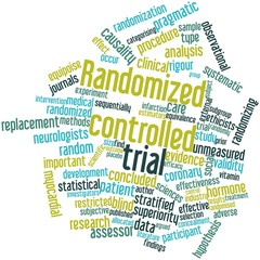 Word cloud for Randomized controlled trial