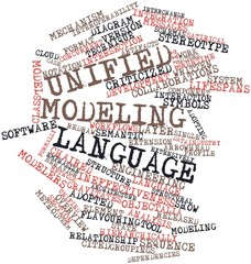 Word cloud for Unified Modeling Language