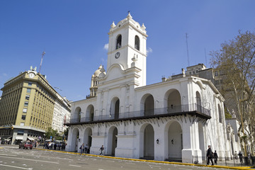Cabildo building, May square, Buenos Aires