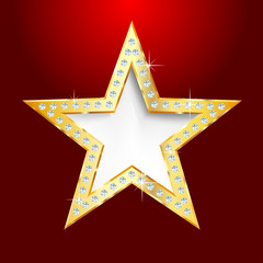 golden star red