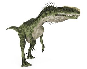 Monolophosaurus is walking