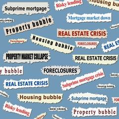 Housing market crisis - property bubble headlines