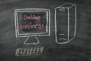 blackboard in business concept