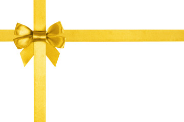 composition with gold ribbons and a bow