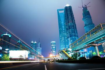 night scene of modern city