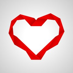 red paper heart..paper heart