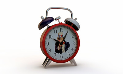 uncle sam clock