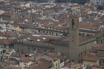Cityscape of Florence with the palazzo vecchio