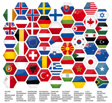 Vector Iconset *** big flag set