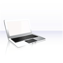 Modern laptop Isolated. Vector illustration.