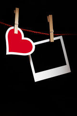 Heart and photo frame