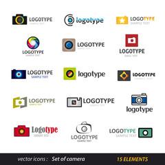 Camera logo set - photography
