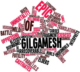 Word cloud for Epic of Gilgamesh
