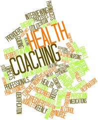 Word cloud for Health coaching