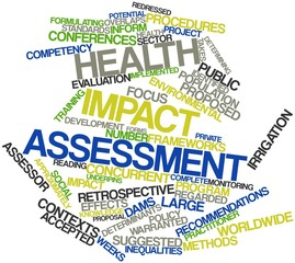 Word cloud for Health impact assessment