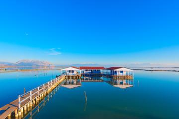 Greece amazing view in lake at Winter time, Tourlida Greece