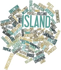 Word cloud for Island