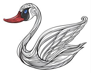 A sad swan