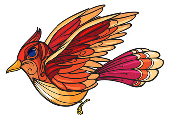An angry bird