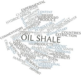 Word cloud for Oil shale
