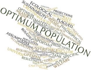Word cloud for Optimum population
