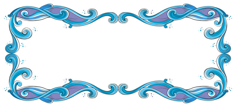 A blue and violet border
