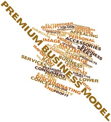 Word cloud for Premium business model