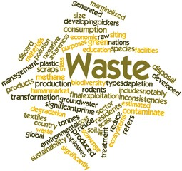 Word cloud for Waste