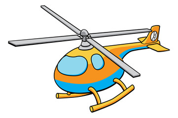 Toy Helicopter Illustration